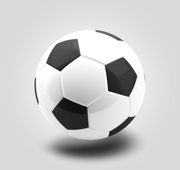 soccer ball football 3d rendering isolated