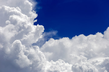 White cloud with sky background