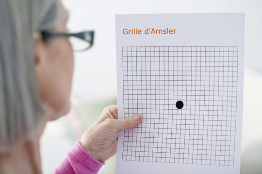 Amsler grid, used to screen an ARMD (Age-related macular degeneration)