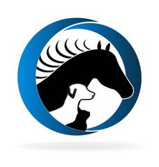 Pets veterinary logo vector