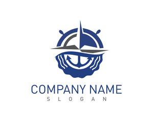 Marine concept vector logo