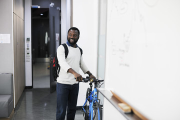 Man Brought His Bike To Office
