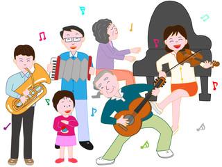家族でコンサート
