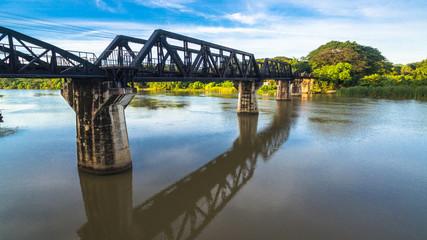 During World War Two Japan constructed the meter gauge railway line from Ban Pong, Thailand to Thanbyuzayat, Buma.
