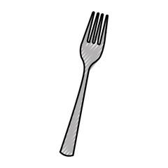 kitchen fork isolated icon vector illustration design