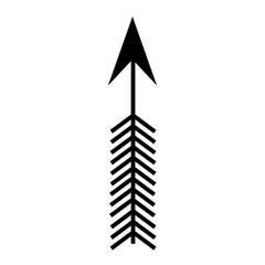 arrow boho style icon vector illustration design