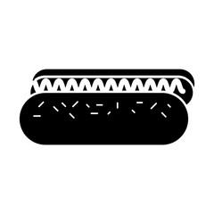delicious hot dog icon vector illustration design