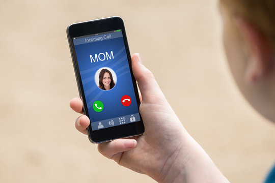 Mom's Incoming Call On Smartphone