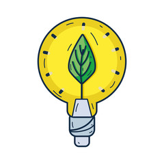 bulb with leaf inside to reduce energy