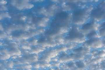 Blue and white cloudy sky backdrop