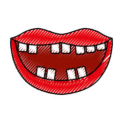 Mouth with bad teeth vector illustration design