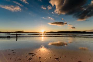 Sunrise Seascape with Sunburst