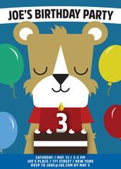 birthday invitation cute animal