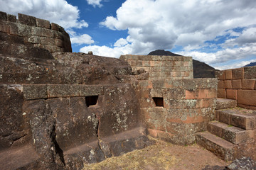 Inca structures in the urban sector of Pisac
