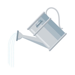 watering can icon over white background vector illustration