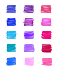 Set of abstract colorful elements