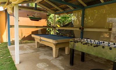 billiards outdoors