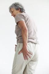 Sciatica, elderly person