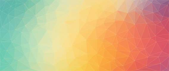 Flat triangle horizontal banner for web design
