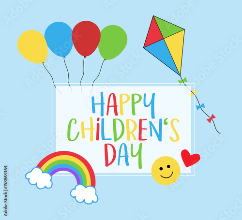 Happy Children S Day 1st June Celebration Of Kids Greeting Card