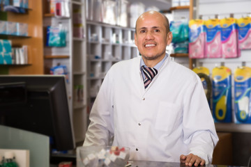 Portrait of smiling a pharmacist