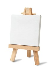Small easel and canvas