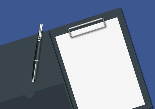 bloc-note - page blanche - présentation - réunion - fond - feuille de papier