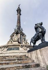 Columbus monument in Barcelona, Spain