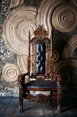 Royal throne for king and queen. Symbol of power