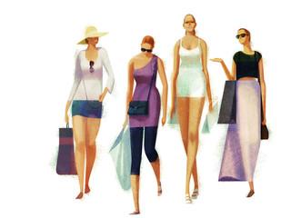 Shopper Girls Wall mural