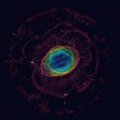 The Ring Nebula. Elements of this image furnished by NASA.