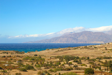 Kreta, Panorama, Lybisches Meer, Küste