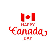 Canada Day. Happy Canada Day holiday typography