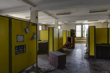 Abandoned Cubicles and Offices in Old Hospital - New York