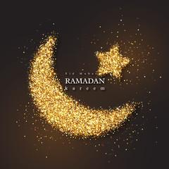 Ramadan Kareem glitter holiday design.