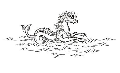 Kelpie - Scottish lake spirit vector