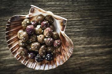 gourmet garlic marinated fresh olives tapas snack starter