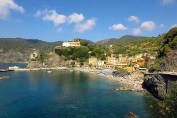 Monterosso al Mare beach and Old Town, Cinque Terre, Italy