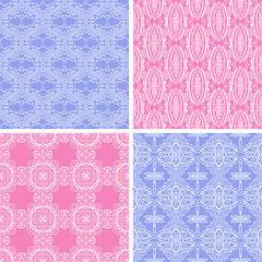 Four seamless bandanna patterns