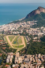 View of Jockey Club and Leblon Neighborhood From Corcovado Mountain in Rio de Janeiro, Brazil