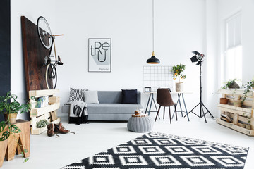 Decorated modern room