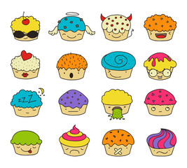 muffin emoji set