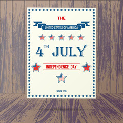 USA independence day placard