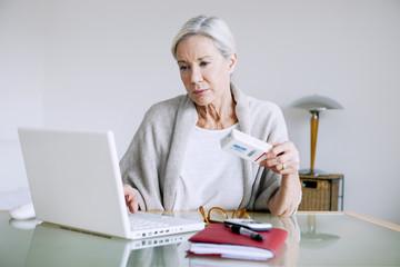 Woman buying medicines online
