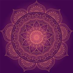 Mandala, square background design, lace ornament in oriental style.