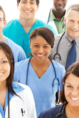 Doctors: Pretty Doctor in Midst of Physician Group