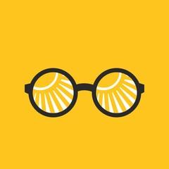 Round glasses sun