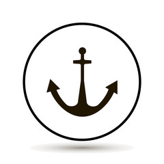 Anchor icon. Vector illustration on white background.