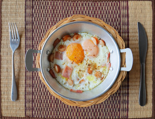 Kai Krata, breakfast menu of northeastern part of Thailand