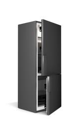 big refrigerator isolated on white